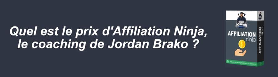 Affiliation Ninja prix