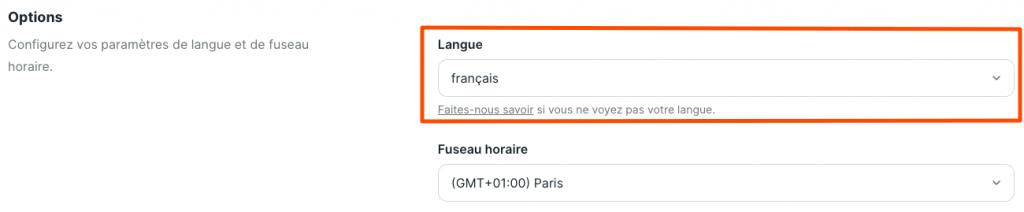 Traduire les boutons de Podia en français